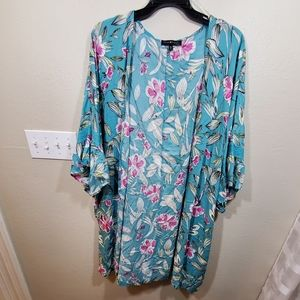 New Floral tropical summer print lace kimono